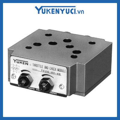 van chỉnh lưu lượng một chiều modular tcg2 03